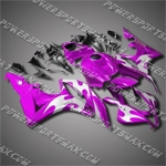 Injection Molded Fit CBR600RR 07 08 Flames Purple Fairing 67N27