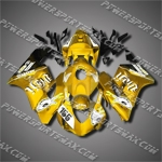 Injection Molded Fit CBR1000RR 04 05 155# Yellow White Fairing ZN138, Free Shipping!