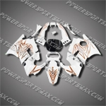 Fit CBR600F2 91-94 92 93 Orange White ABS Fairing Set ZN882-handcraft