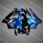 Injection Molded Fit CBR600RR 03 04 Blue Black Fairing ZN1076