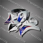 Fit CBR1000RR 08-11 Blue White ABS Fairing ZN754