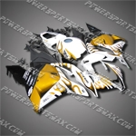 Injection Molded Fit CBR600RR 09-12 Gold Flames Fairing 69N36