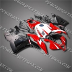 Injection Molded Fit CBR600RR 09-12 Red Black Fairing 69N21