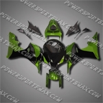 Injection Molded Fit CBR600RR 07 08 Green Black Fairing ZN1029