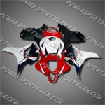 Injection Molded Fit CBR600RR 09-12 Red White Black Fairing ZN1018