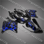 Fit CBR1100XX Blackbird 96-07 Blue Flames Fairing 11N34, Free Shipping!