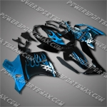 Fit CBR1100XX Blackbird 96-07 Blue Flames Fairing 11N18