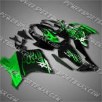 Fit CBR1100XX Blackbird 96-07 Green Flames Fairing 11N08, Free Shipping!