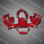 For VTR1000F 97-05 All Red ABS Fairing ZN975-handcraft