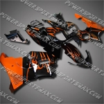 For CBR900RR 94-97 Orange Flames Fairing 94N04-handcraft