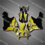 For VFR400 R NC30 89-93 Yellow Black Fairing ZN1090-handcraft