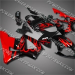 For CBR929RR 00 01 Red Flames ABS Fairing 90N02