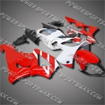 Fit CBR929RR 00 01 White Red ABS Fairing 90N31