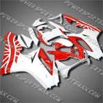 For Triumph Daytona 675 Triple ABS racetrack Fairing T6752 red white bodywork -handcraft