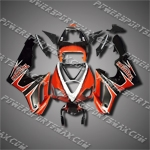 For Triumph Daytona 675 Daytona675 675 Triple ABS Fairing Black Orange-handcraft
