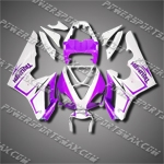 For Triumph Daytona 675 Triple ABS Fairing White Purple-handcraft