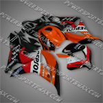 Fairing For Honda 2007 2008 F5 CBR 600 RR Plastics Set Injection Molding WS2, Free Shipping!