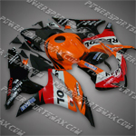 Fairing For 2007 2008 Honda F5 CBR 600 RR Plastics Set Injection Molding, Free shipping
