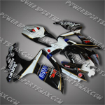 Suzuki 2008 2009 GSXR 600 GSX-R 750 K8 Fairing Plastics Set Injection Molding, Free Sipping!