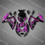Injection Molded For Suzuki GSX-R600 06 07 K6 Purple Flames Fairing 66Z06, Free Shipping!