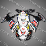 Suzuki GSX-R 600 06 07 K6 Black Red ABS Fairing Set, Free Shipping!
