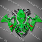 Injection Molded For GSX-R600 06 07 K6 Black Flames Fairing 66Z57, Free Shipping!