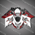 Suzuki GSX-R600 04 05 K4 Red White Fairing 64Z22, Free Shipping!