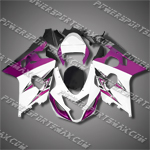 Suzuki GSX-R600 04 05 K4 Purple White Fairing 64Z23, Free Shipping!