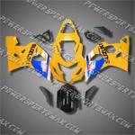 Suzuki GSX-R600 04 05 K4 Blue YellowFairing ZZ621, Free Shipping!