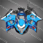 For Suzuki GSX-R600 04 05 K4 Corona ALSTARE Cyan Blue ABS Fairing 64Z28, Free Shipping!