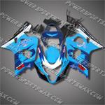 For Suzuki GSX-R600 04 05 K4 Corona ALSTARE Cyan Blue ABS Fairing 64Z28, Free Shipping!