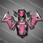 Injection Molded For Kawasaki Ninja EX250 250R 08 09 Flames Pink Fairing 25W17, Free Shipping!