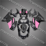 Injection Molded For Kawasaki Ninja EX250 250R 08 09 Pink Black Fairing 25W29, Free Shipping!