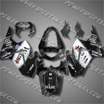 Injection Molded For Kawasaki Ninja EX250 250R 08 09 West Black Fairing ZW222, Free Shipping!