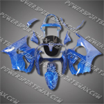 Injection Molded For Kawasaki Ninja EX250 250R 08 09 Lightning Blue Fairing Z414, Free Shipping!