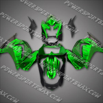 Injection Molded For Kawasaki Ninja EX250 250R 08 09 Flames Green Fairing ZW413, Free Shipping!