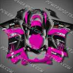 Injection Molded For Ninja EX250 250R 08 09 Purple Black Fairing, Free Shipping!