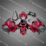Injection Molded For Kawasaki Ninja EX250 250R 08 09 Flames Red Fairing ZW411, Free Shipping!