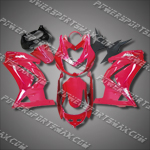 Injection Molded For Kawasaki Ninja EX250 250R 08 09 Rose Fairing 25W15, Free Shipping!