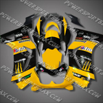 Injection Molded For  Kawasaki Ninja EX250 250R 08 09 Yellow Black Fairing, Free Shipping!