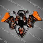 Honda VFR800 Interceptor 02-07 Flames Fairing 82N04-Handcraft, Free Shipping!