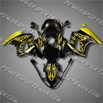 Honda VFR800 Interceptor 02-07 Flames Fairing 82N05-Handcraft, Free Shipping!