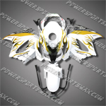 Honda VFR800 Interceptor 02-07 Flames Fairing 82N15-Handcraft, Free Shipping!