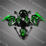 Honda VFR800 Interceptor 02-07 Flames Fairing 82N07-Handcraft, Free Shipping!