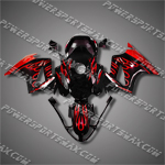 Honda VFR800 Interceptor 02-07 Flames Fairing 82N02-Handcraft, Free Shipping!