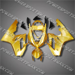 Triumph Daytona 675 06-08 Gold Black Fairing 67T01-Handcraft, Free Shipping!