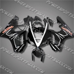 Triumph Daytona 675 06-08 White Black ABS Fairing Set 67T24-Handcraft, Free Shipping!