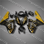 Triumph Daytona 675 06-08 Gold Flames Fairing 67T05-Handcraft, Free Shipping!