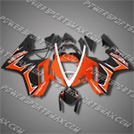 Triumph Daytona 675 06-08 Triple Orange Black ABS Fairing 67T25-Handcraft, Free Shipping!