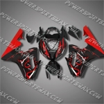Triumph Daytona 675 06-08 Red Flames Fairing 67T02-Handcraft, Free Shipping!